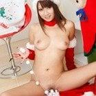 クリスマスの全裸美女