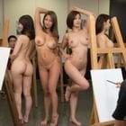 美術の時間は全裸